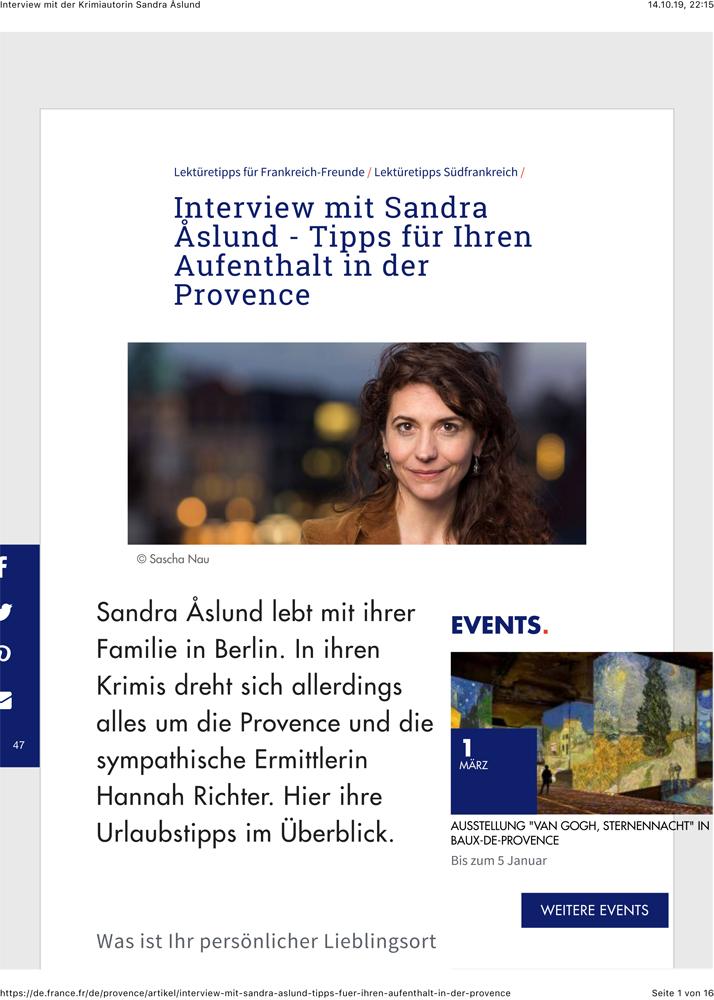 Interview mit der Krimiautorin Sandra slund